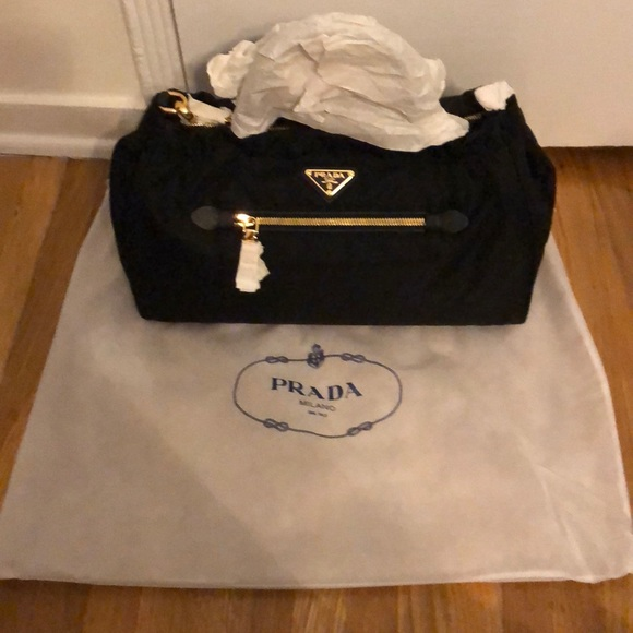 04a0dfb5ea New Prada Tessuto Nylon  Saffiano Leather Trim